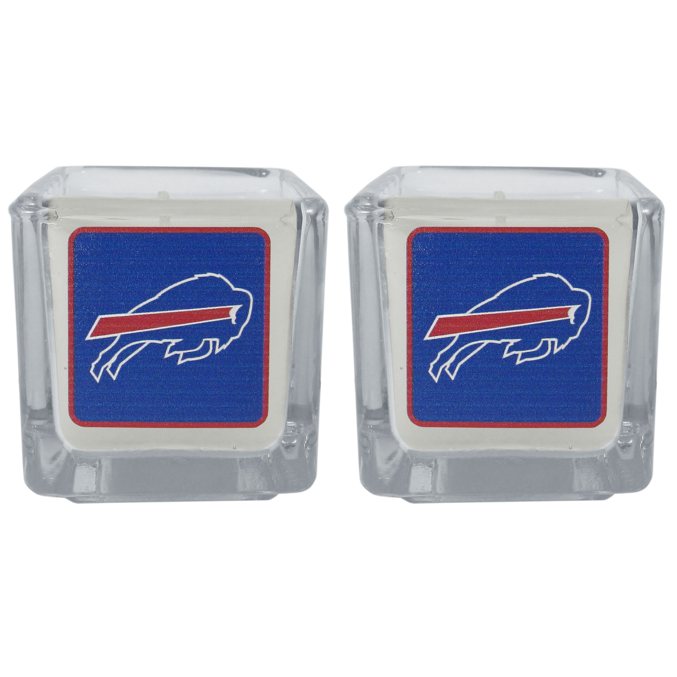 Buffalo Bills Graphics Candle Set - Our candle set features 2 lightly vanilla scented candles with the Buffalo Bills logo expertly printed on front. The candles are 2 inches tall in the votive style.