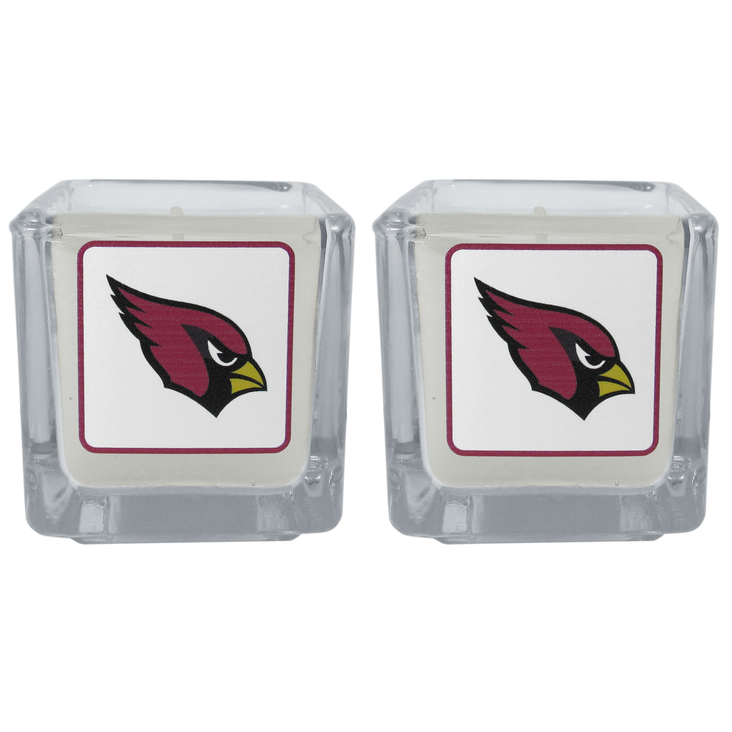 Arizona Cardinals Graphics Candle Set - Our candle set features 2 lightly vanilla scented candles with the Arizona Cardinals logo expertly printed on front. The candles are 2 inches tall in the votive style.