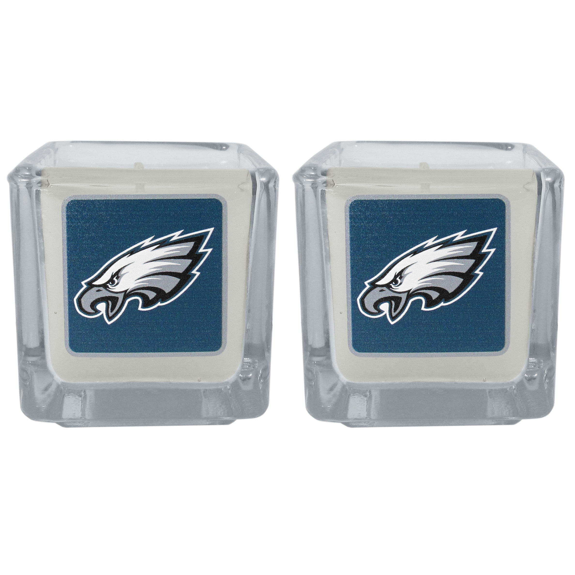 Philadelphia Eagles Graphics Candle Set - Our candle set features 2 lightly vanilla scented candles with the Philadelphia Eagles logo expertly printed on front. The candles are 2 inches tall in the votive style.