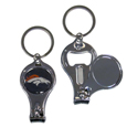 Denver Broncos Nail Care/Bottle Opener Key Chain
