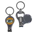Green Bay Packers Nail Care/Bottle Opener Key Chain