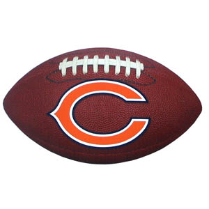 "Chicago Bears Football Small Magnet - Officially licensed NFL Chicago Bears football shaped magnet 6.5"" wide and 3.75"" tall. Officially licensed NFL product Licensee: Siskiyou Buckle .com"