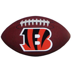 "Cincinnati Bengals Football Small Magnet - Officially licensed NFL Cincinnati Bengals football shaped magnet 6.5"" wide and 3.75"" tall. Officially licensed NFL product Licensee: Siskiyou Buckle .com"