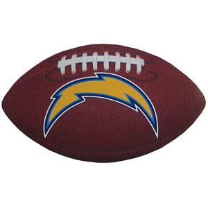 "Los Angeles Chargers Football Small Magnet - Officially licensed NFL Los Angeles Chargers football shaped magnet 6.5"" wide and 3.75"" tall. Officially licensed NFL product Licensee: Siskiyou Buckle .com"
