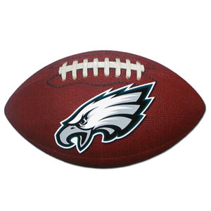 "Philadelphia Eagles Football Small Magnet - Officially licensed NFL Philadelphia Eagles football shaped magnet 6.5"" wide and 3.75"" tall. Officially licensed NFL product Licensee: Siskiyou Buckle .com"