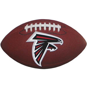 "Atlanta Falcons Football Small Magnet - Officially licensed NFL Atlanta Falcons football shaped magnet 6.5"" wide and 3.75"" tall. Officially licensed NFL product Licensee: Siskiyou Buckle .com"