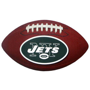 "New York Jets Football Small Magnet - Officially licensed NFL New York Jets football shaped magnet 6.5"" wide and 3.75"" tall. Officially licensed NFL product Licensee: Siskiyou Buckle Thank you for visiting CrazedOutSports.com"