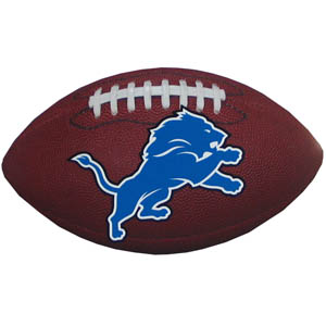 "Detroit Lions Football Small Magnet - Officially licensed NFL Detroit Lions football shaped magnet 6.5"" wide and 3.75"" tall. Officially licensed NFL product Licensee: Siskiyou Buckle .com"