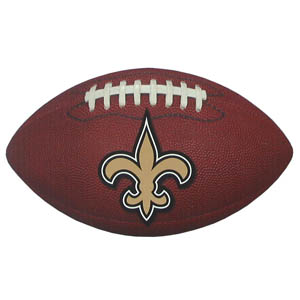 "New Orleans Saints Football Small Magnet - Officially licensed NFL New Orleans Saints football shaped magnet 6.5"" wide and 3.75"" tall. Officially licensed NFL product Licensee: Siskiyou Buckle Thank you for visiting CrazedOutSports.com"