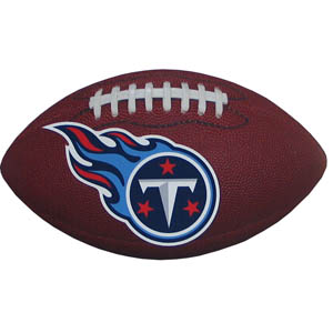 "Tennessee Titans Football Small Magnet - Officially licensed NFL Tennessee Titans football shaped magnet 6.5"" wide and 3.75"" tall. Officially licensed NFL product Licensee: Siskiyou Buckle .com"