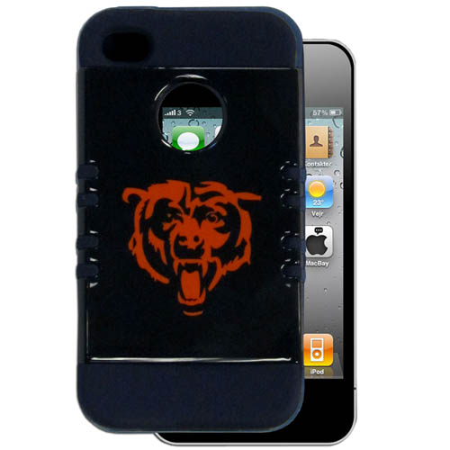 Bears 4G Rocker Case - Our officially licensed NFL 4G Rocker case is a 2 piece case with inner silicone skin and outer hard case with silk screened team graphics. Protects your device from bumps, scratches and other mishaps while allowing for complete access to the devices functionality. Officially licensed NFL product Licensee: Siskiyou Buckle .com