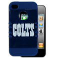 Indianapolis Colts Rocker Case fits iPhone 4/4S - Our officially licensed NFL Rocker case is a 2 piece case with inner silicone skin and outer hard case with silk screened team graphics. Protects your iPhone 4/4S from bumps, scratches and other mishaps while allowing for complete access to the devices functionality. Officially licensed NFL product Licensee: Siskiyou Buckle Thank you for visiting CrazedOutSports.com