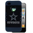 Dallas Cowboys Rocker Case fits iPhone 4/4S - Our officially licensed NFL Rocker case is a 2 piece case with inner silicone skin and outer hard case with silk screened team graphics. Protects your iPhone 4/4S from bumps, scratches and other mishaps while allowing for complete access to the devices functionality. Officially licensed NFL product Licensee: Siskiyou Buckle .com