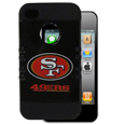 San Francisco 49ers Rocker Case fits iPhone 4/4S - Our officially licensed NFL Rocker case is a 2 piece case with inner silicone skin and outer hard case with silk screened team graphics. Protects your iPhone 4/4S from bumps, scratches and other mishaps while allowing for complete access to the devices functionality. Officially licensed NFL product Licensee: Siskiyou Buckle .com