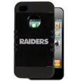 Oakland Raiders Rocker Case fits iPhone 4/4S - Our officially licensed NFL Rocker case is a 2 piece case with inner silicone skin and outer hard case with silk screened team graphics. Protects your iPhone 4/4S from bumps, scratches and other mishaps while allowing for complete access to the devices functionality. Officially licensed NFL product Licensee: Siskiyou Buckle Thank you for visiting CrazedOutSports.com