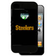 Pittsburgh Steelers Rocker Case fits iPhone 4/4S - Our officially licensed NFL Rocker case is a 2 piece case with inner silicone skin and outer hard case with silk screened team graphics. Protects your iPhone 4/4S from bumps, scratches and other mishaps while allowing for complete access to the devices functionality. Officially licensed NFL product Licensee: Siskiyou Buckle .com