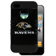 Baltimore Ravens iPhone 4G Rocker Case - Our officially licensed NFL Rocker case is a 2 piece case with inner silicone skin and outer hard case with silk screened team graphics. Protects your iPhone 4/4S from bumps, scratches and other mishaps while allowing for complete access to the devices functionality. Officially licensed NFL product Licensee: Siskiyou Buckle Thank you for visiting CrazedOutSports.com