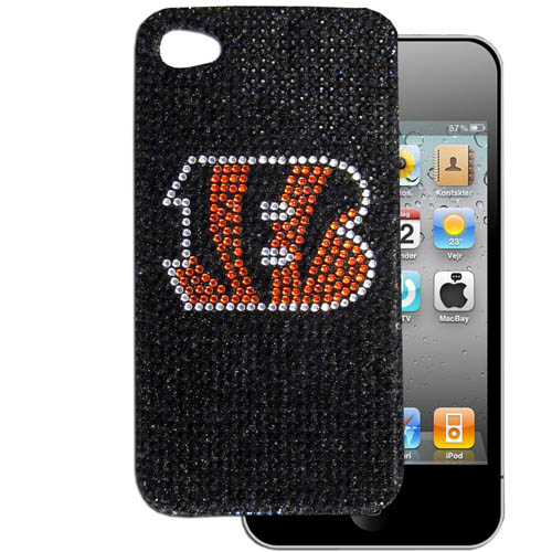 Cincinnati Bengals 4G Crystal Snap on Case - This one piece NFL snap on case features the team's primary logo in brightly colored crystals. Officially licensed NFL product Licensee: Siskiyou Buckle .com