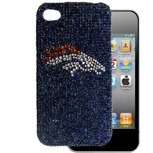 Denver Broncos 4G Crystal Snap on Case - This one piece NFL faceplate features the team's primary logo in brightly colored crystals. Protects your device from bumps, scratches and other mishaps while allowing for complete access to the phone's functionality. Officially licensed NFL product Licensee: Siskiyou Buckle Thank you for visiting CrazedOutSports.com