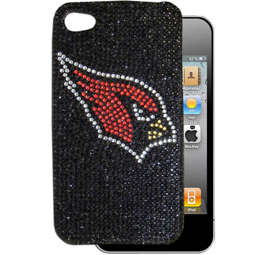 Arizona Cardinals 4G Crystal Snap on Case - This one piece NFL snap on case features the team's primary logo in brightly colored crystals. Officially licensed NFL product Licensee: Siskiyou Buckle .com