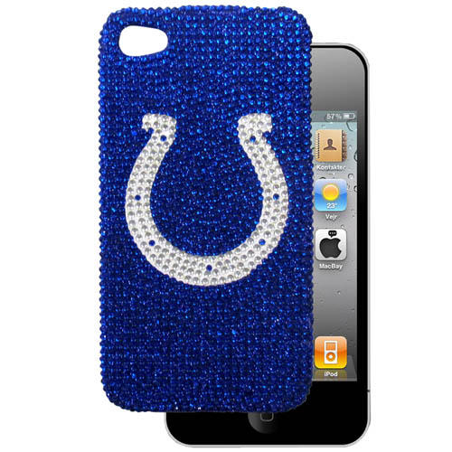 Indianapolis Colts 4G Crystal Snap on Case - This one piece NFL faceplate features the team's primary logo in brightly colored crystals. Protects your device from bumps, scratches and other mishaps while allowing for complete access to the phone's functionality. Officially licensed NFL product Licensee: Siskiyou Buckle Thank you for visiting CrazedOutSports.com