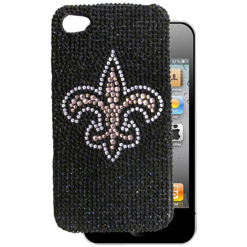 New Orleans Saints 4G Crystal Snap on Case - This one piece NFL faceplate features the team's primary logo in brightly colored crystals. Protects your device from bumps, scratches and other mishaps while allowing for complete access to the phone's functionality. Officially licensed NFL product Licensee: Siskiyou Buckle Thank you for visiting CrazedOutSports.com