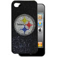 Pittsburgh Steelers iPhone 4G Crystal Snap on Case - Add a little glitz to your game with our iPhone 4G Glitz faceplates. These officially licensed flashy cases are covered in colored crystals featuring your favorite team logos. The single piece faceplate slips easily onto your phone while allowing complete access to the phones functionality. A great, fashionable way to protect your phone investment and show off your team pride! Officially licensed NFL product Licensee: Siskiyou Buckle Thank you for visiting CrazedOutSports.com