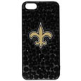 New Orleans Saints iPhone 5/5S Dazzle Snap on Case - Want the world to know you're a fan? This dazzle case shimmers and shines your love of the New Orleans Saints to everyone! The dazzle case is covered in multi-sized team colored crystal on a glitter background surrounding the team's logo. The single piece case easily snaps onto your iPhone 5/5S and provides great protection from bumps and scrapes. Officially licensed NFL product Licensee: Siskiyou Buckle .com