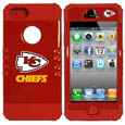 Kansas City Chiefs iPhone 5 Rocker Case - Our officially licensed NFL 5/5S Rocker case is a 2 piece case with inner silicone skin and outer hard case with silk screened team graphics. Protects your iPhone from bumps, scratches and other mishaps while allowing for complete access to the devices functionality. Officially licensed NFL product Licensee: Siskiyou Buckle Thank you for visiting CrazedOutSports.com