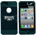 Philadelphia Eagles iPhone 5 Rocker Case - Our officially licensed NFL 5/5S Rocker case is a 2 piece case with inner silicone skin and outer hard case with silk screened team graphics. Protects your iPhone from bumps, scratches and other mishaps while allowing for complete access to the devices functionality. Officially licensed NFL product Licensee: Siskiyou Buckle .com