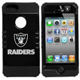 Oakland Raiders iPhone 5 Rocker Case - Our officially licensed NFL 5/5S Rocker case is a 2 piece case with inner silicone skin and outer hard case with silk screened team graphics. Protects your iPhone from bumps, scratches and other mishaps while allowing for complete access to the devices functionality. Officially licensed NFL product Licensee: Siskiyou Buckle Thank you for visiting CrazedOutSports.com