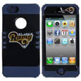 St. Louis Rams iPhone 5 Rocker Case - Our officially licensed NFL 5/5S Rocker case is a 2 piece case with inner silicone skin and outer hard case with silk screened team graphics. Protects your iPhone from bumps, scratches and other mishaps while allowing for complete access to the devices functionality. Officially licensed NFL product Licensee: Siskiyou Buckle .com