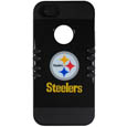 Pittsburgh Steelers Rocker Case fits iPhone 5 - Our officially licensed NFL 5/5S Rocker case is a 2 piece case with inner silicone skin and outer hard case with silk screened team graphics. Protects your iPhone from bumps, scratches and other mishaps while allowing for complete access to the devices functionality. Officially licensed NFL product Licensee: Siskiyou Buckle .com