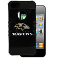Baltimore Ravens Rocker Case fits iPhone 5 - Our officially licensed NFL 5/5S Rocker case is a 2 piece case with inner silicone skin and outer hard case with silk screened team graphics. Protects your iPhone from bumps, scratches and other mishaps while allowing for complete access to the devices functionality. Officially licensed NFL product Licensee: Siskiyou Buckle .com