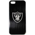 Oakland Raiders Etched iPhone 5/5S Etched Case - This ultra cool hard shell snap on case provides great protection for the phone while the soft rubber finish adds to your grip to help prevent dropping the phone. This stylish case is finished off with a brushed metal team plate with laser etched Oakland Raiders team logo. Officially licensed NFL product Licensee: Siskiyou Buckle Thank you for visiting CrazedOutSports.com