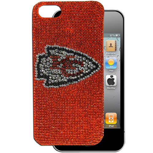 Chiefs 5 Crystal Snap on Case - This one piece NFL crystal 5 snap on case features the team's primary logo in brightly colored crystals. Officially licensed NFL product Licensee: Siskiyou Buckle Thank you for visiting CrazedOutSports.com