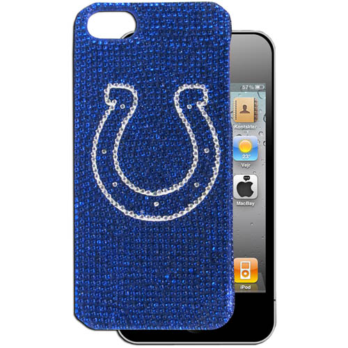 Colts 5 Crystal Snap on Case - This one piece NFL crystal 5 snap on case features the team's primary logo in brightly colored crystals. Officially licensed NFL product Licensee: Siskiyou Buckle Thank you for visiting CrazedOutSports.com