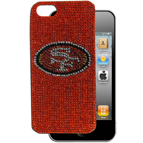 49ers 5 Crystal Snap on Case - This one piece NFL crystal 5 snap on case features the team's primary logo in brightly colored crystals. Officially licensed NFL product Licensee: Siskiyou Buckle Thank you for visiting CrazedOutSports.com