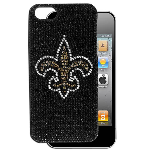 Saints 5 Crystal Snap on Case - This one piece NFL crystal 5 snap on case features the team's primary logo in brightly colored crystals. Officially licensed NFL product Licensee: Siskiyou Buckle Thank you for visiting CrazedOutSports.com
