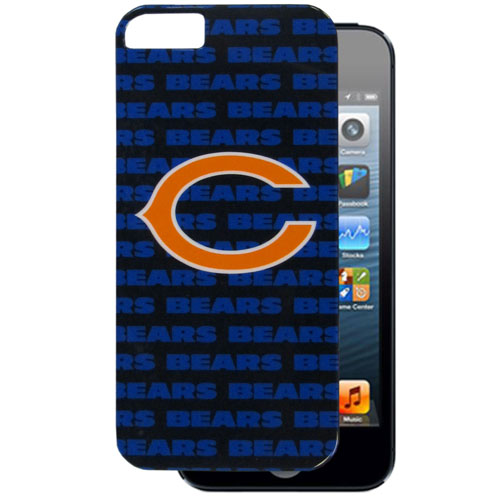 Chicago Bears 5 Graphics Snap on Case - This officially licensed NFL single piece snap on case features the team's primary logo and silhouetted pattern of the team name. Protects your device from bumps, scratches and other mishaps while allowing for complete access to the phone's functionality. Officially licensed NFL product Licensee: Siskiyou Buckle .com