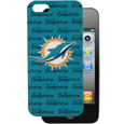 Miami Dolphins Graphics Snap on Case fits iPhone 5 - This officially licensed NFL single piece snap on case features the team's primary logo and silhouetted pattern of the team name. Protects your device from bumps, scratches and other mishaps while allowing for complete access to the phone's functionality. Officially licensed NFL product Licensee: Siskiyou Buckle Thank you for visiting CrazedOutSports.com