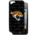 Jacksonville Jaguars iPhone 5 Graphics Snap on Case - This officially licensed NFL single piece snap on case features the team's primary logo and silhouetted pattern of the team name. Protects your device from bumps, scratches and other mishaps while allowing for complete access to the phone's functionality. Officially licensed NFL product Licensee: Siskiyou Buckle Thank you for visiting CrazedOutSports.com