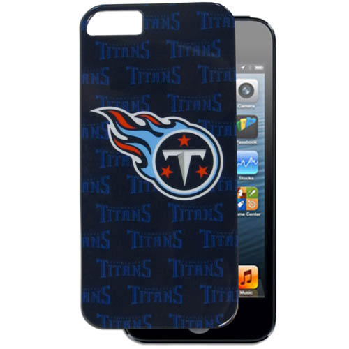 Titans 5 Graphics Snap on Case - This officially licensed NFL single piece snap on case features the team's primary logo and silhouetted pattern of the team name. Officially licensed NFL product Licensee: Siskiyou Buckle .com