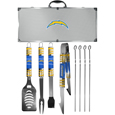 Los Angeles Chargers 8 pc Tailgater BBQ Set