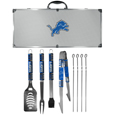Detroit Lions 8 pc Tailgater BBQ Set