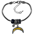 San Diego Chargers Euro Bead Bracelet