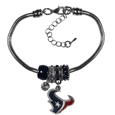 Houston Texans Euro Bead Bracelet