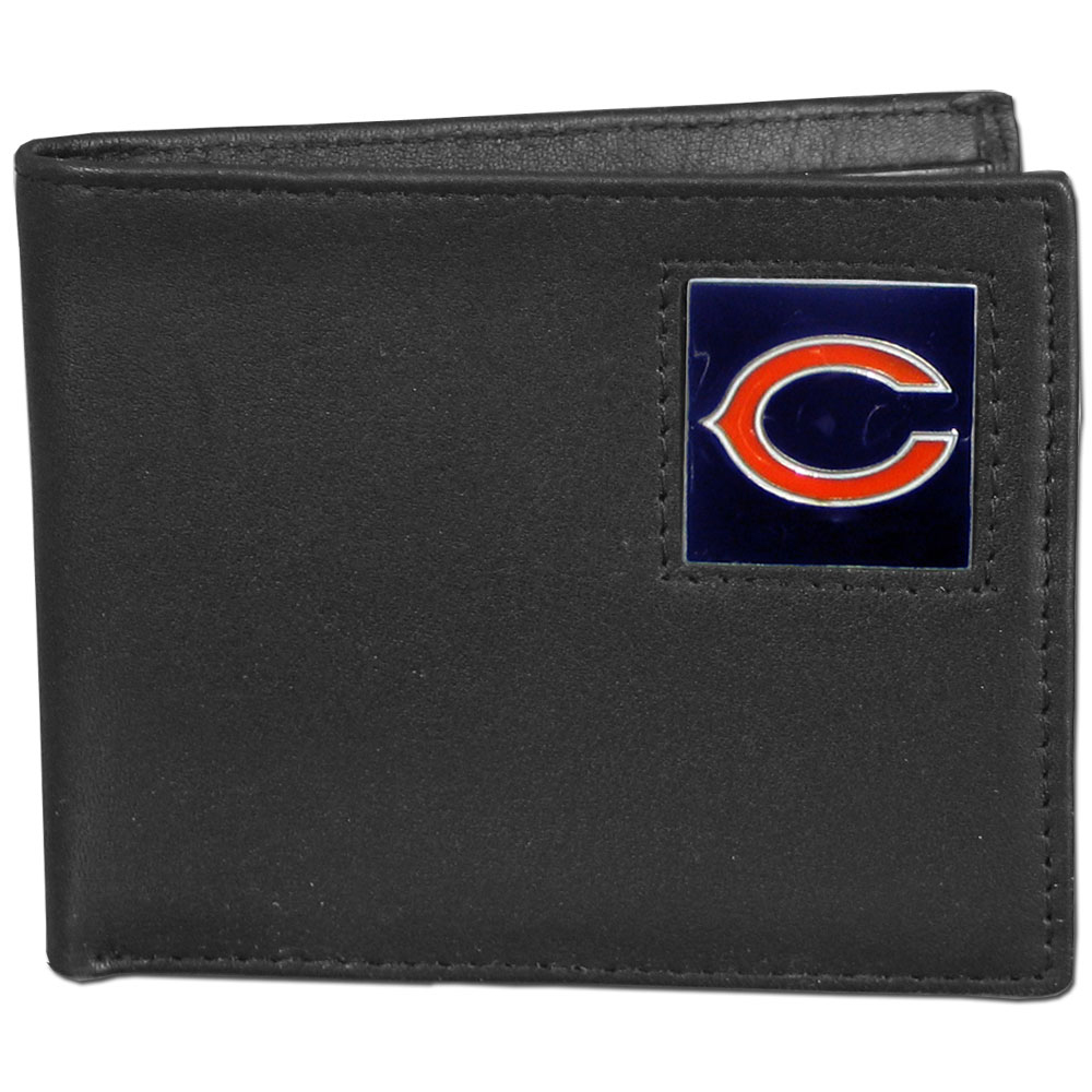 NFL Bifold Wallet in a Window Box - Chicago Bears - Our Executive Bifolds are made of high quality fine grain leather with a sculpted NFL team emblem. Packaged in a window box. Check out our entire line of  NFL merchandise! Officially licensed NFL product Licensee: Siskiyou Buckle .com