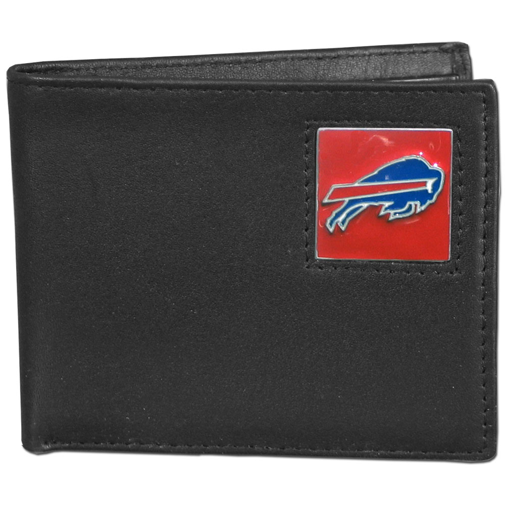 NFL Bifold Wallet in a Window Box - Buffalo Bills - Our Executive Bifolds are made of high quality fine grain leather with a sculpted NFL team emblem. Packaged in a window box. Check out our entire line of  NFL merchandise! Officially licensed NFL product Licensee: Siskiyou Buckle .com