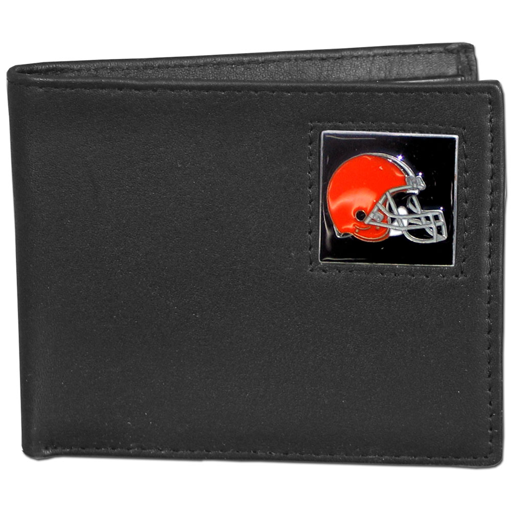 NFL Bifold Wallet - Cleveland Browns - Our Executive Bifolds are made of high quality fine grain leather with a sculpted NFL team emblem. Check out our entire line of  NFL merchandise! Officially licensed NFL product Licensee: Siskiyou Buckle .com